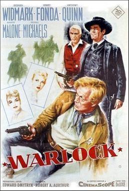 Warlock (1959 film) movie poster