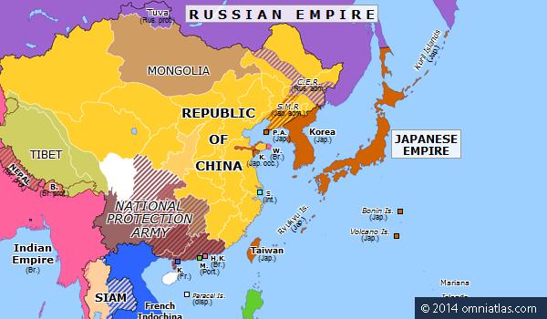 Warlord Era Chinas Warlord Era Begins Historical Atlas of East Asia 6 June