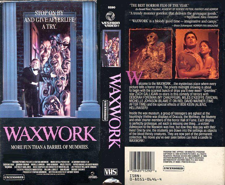 Waxwork (film) Waxwork 1988 Grayson Kilmercom