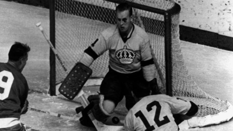 Wayne Rutledge A glorious shot of rookie goalie Wayne Rutledge in his first NHL