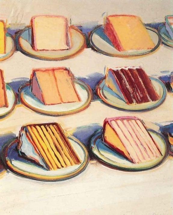 Wayne Thiebaud Wayne Thiebaud cake paintings