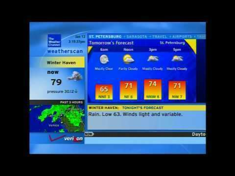 Weatherscan Weatherscan January 12th 2015 YouTube