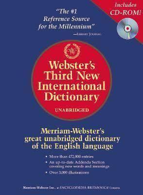 Webster's Third New International Dictionary t0gstaticcomimagesqtbnANd9GcQ0Z65mGLlKJFqepZ