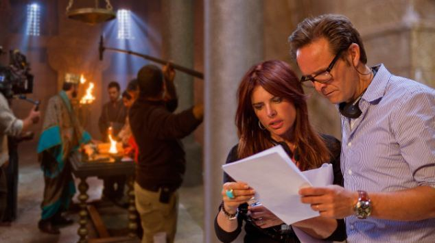 Wedding Bible movie scenes Not again Producers Mark Burnett and his wife Roma Downey said they cut the scenes