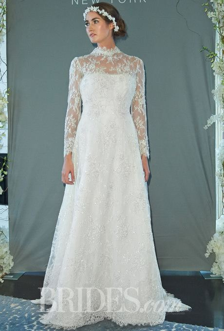 Wedding dress of Princess Elizabeth Sareh Nouri Fall 2014 Queen Elizabeth Lace ALine Wedding Dress