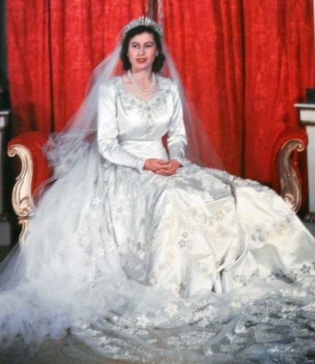 Wedding dress of Princess Elizabeth The Young Queen Elizabeth Royal Gowns From The 1950s Edelweiss