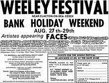 Weeley Festival httpsuploadwikimediaorgwikipediaenthumbf
