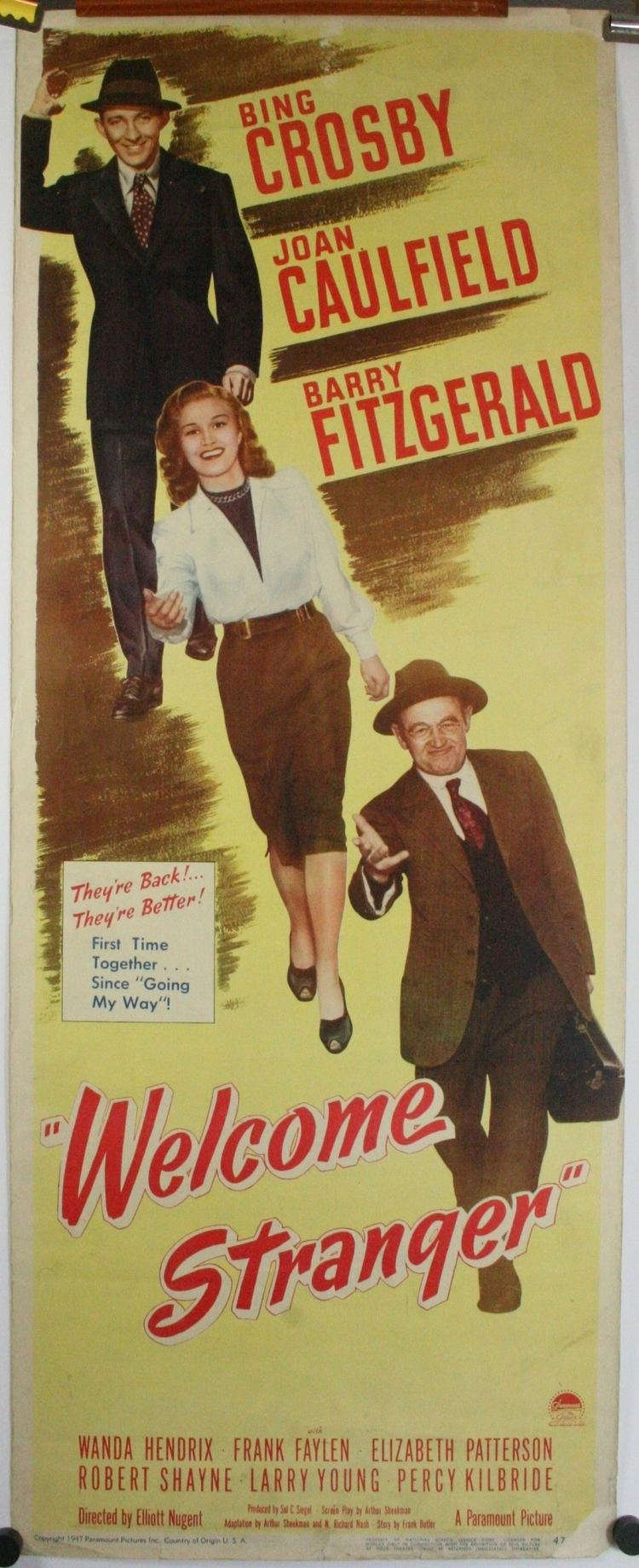 Welcome Stranger (film) WELCOME STRANGER Original Bing Crosby Insert Movie Poster
