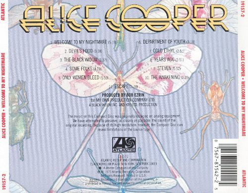 Welcome to My Nightmare Alice Cooper Songs Reviews Credits