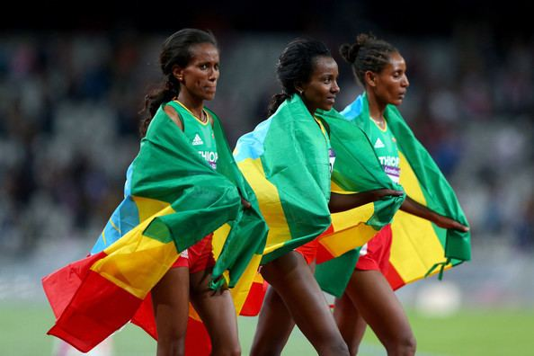 Werknesh Kidane Tirunesh Dibaba and Werknesh Kidane Photos Olympics Day