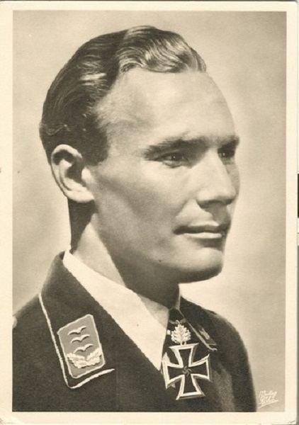 Werner Baumbach WERNER BAUMBACH RKT LUFTWAFFE POST CARD
