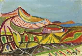 Werner Gilles Werner Gilles 18941961 Landschaft auf Ischia 20th