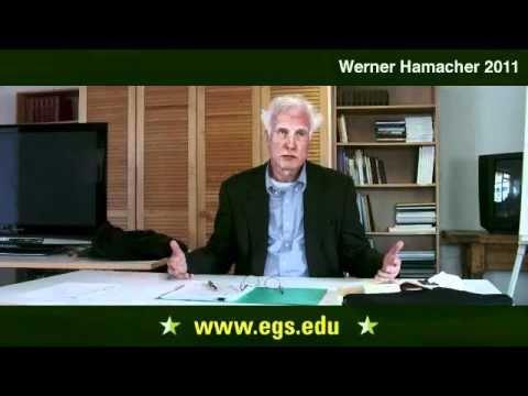 Werner Hamacher Werner Hamacher The Kantian Community 2011