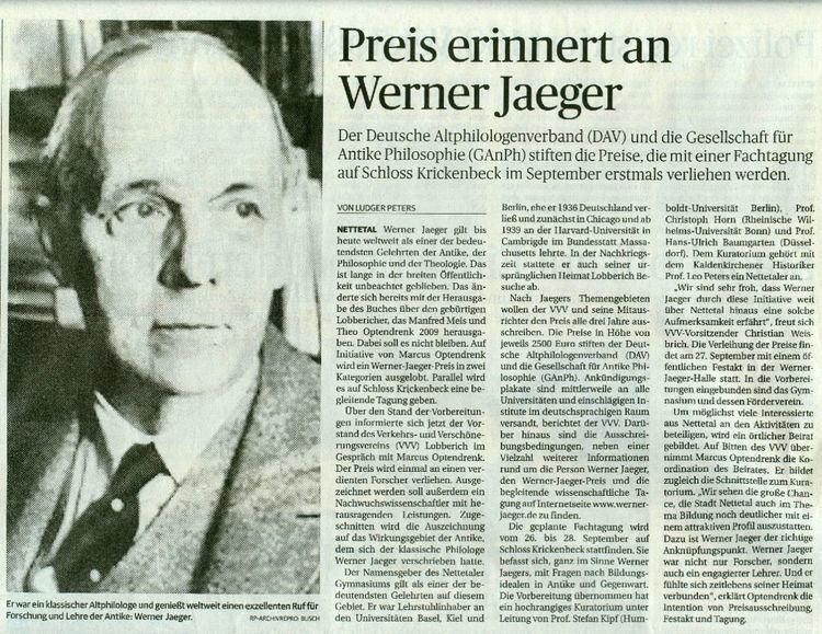 Werner Jaeger Presseberichte Werner Jaeger VVV Lobberich