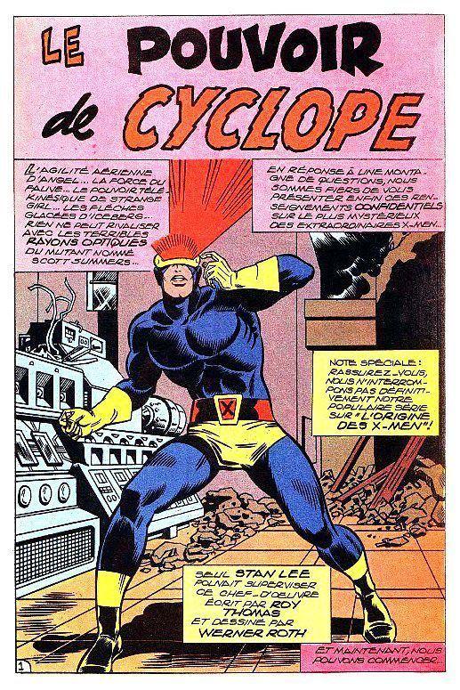 Werner Roth (comics) Cyclops Splash page by Werner Roth Marvel Comic Book PinUp Art