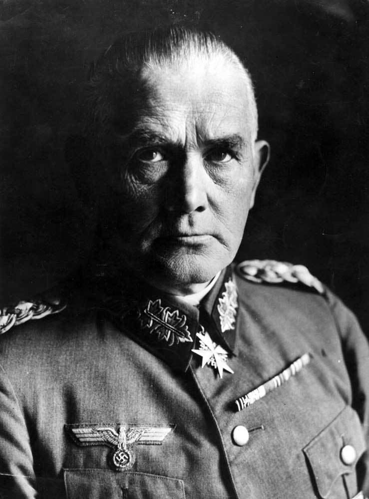 Werner von Blomberg Today in History 15 July 1935 All German Solders Banned