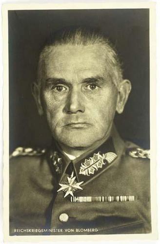 Werner von Blomberg German Leadership Field Marshal Werner von Blomberg