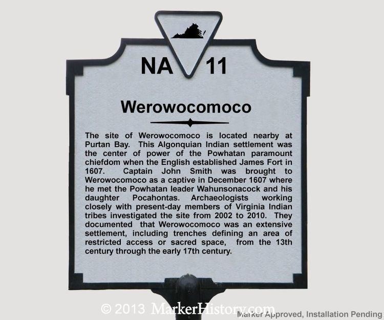 Werowocomoco Werowocomoco NA11 Marker History