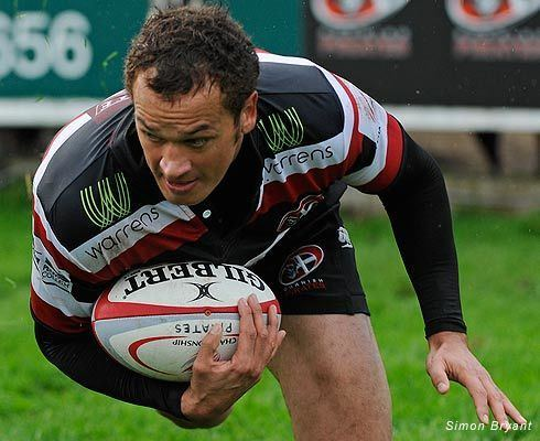 Wes Davies Wes Davies Wing Cornish Pirates rugby player 200406 200913