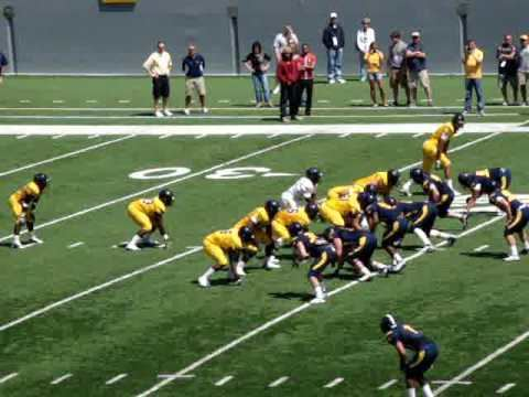 Wes Lyons WVU 2009 spring game Wes Lyons tough TD catch YouTube