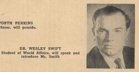 Wesley A. Swift Dr Wesley Swift39s Church of Jesus Christ Christian