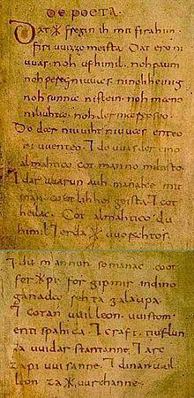 Wessobrunn Prayer httpsuploadwikimediaorgwikipediacommonsthu