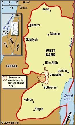 West Bank history geography region Palestine Britannicacom