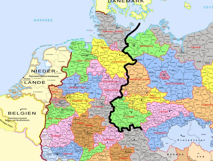 West Germany Did the division between East and West Germany coincide with