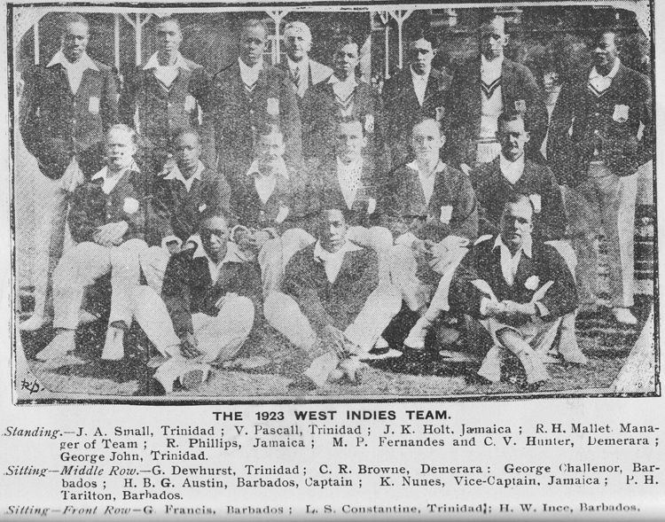 West Indian cricket team in England in 1923