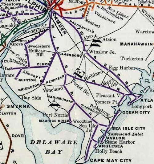 West Jersey and Seashore Railroad wwwsjrailcomwikiimages22bWJ26SMap1JPG