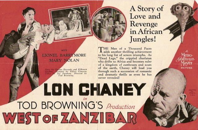 TOD BROWNINGS WEST OF ZANZIBAR 1928 THE ROAD TO MANDALAY 1926