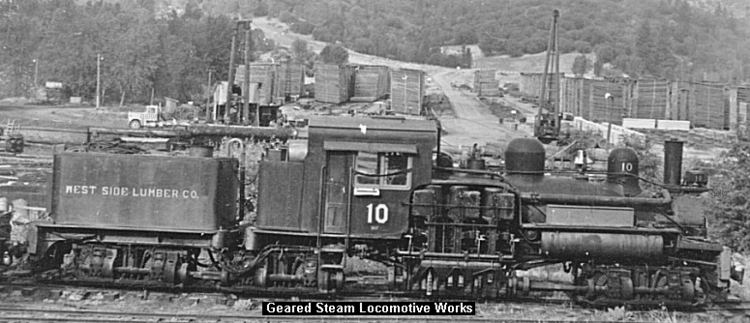 West Side Lumber Company railway Shay Images We Geared Steam Locomotive Works