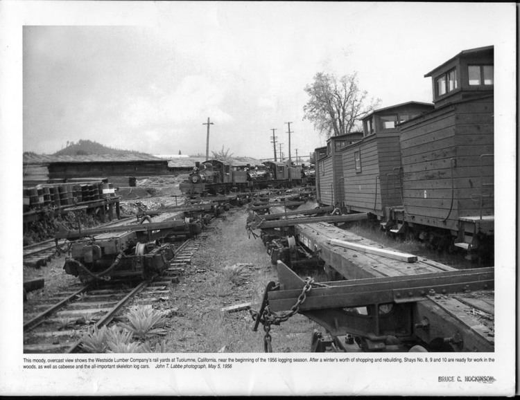 West Side Lumber Company railway West Side Lumber Company Sierra Nevada Logging Museum