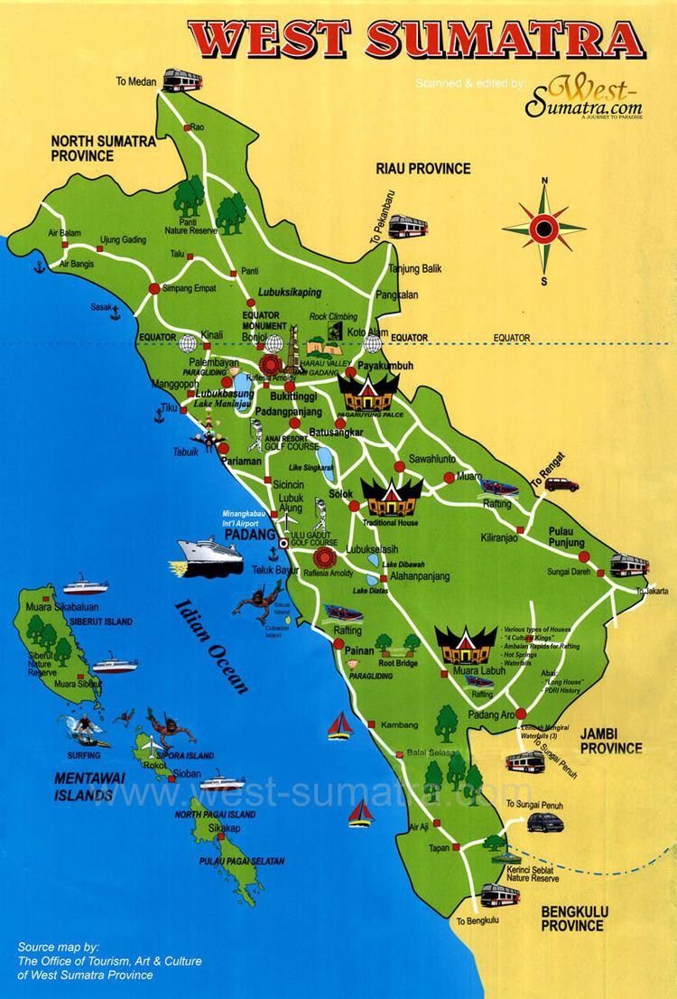 West Sumatra Tourist places in West Sumatra