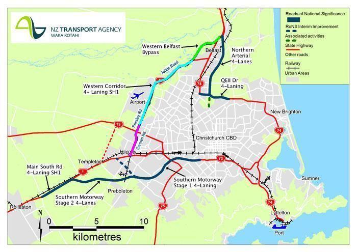 Western Belfast Bypass Progress on western corridor Christchurch Transport Blog