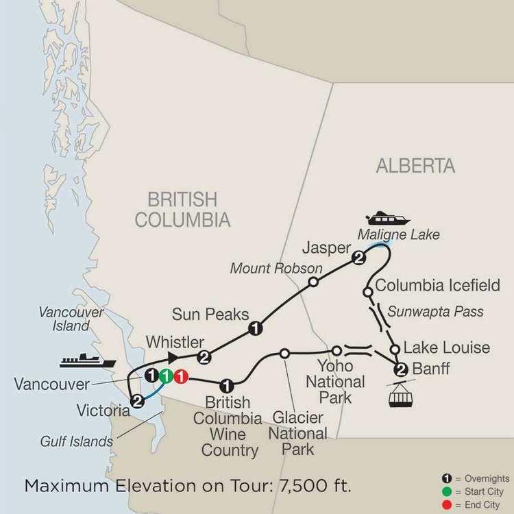 Western Canada Western Canada Escorted Tours Globus