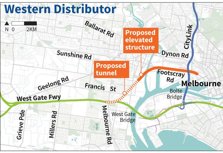 Western Distributor (Melbourne) Melbourne to get new western suburbs toll road
