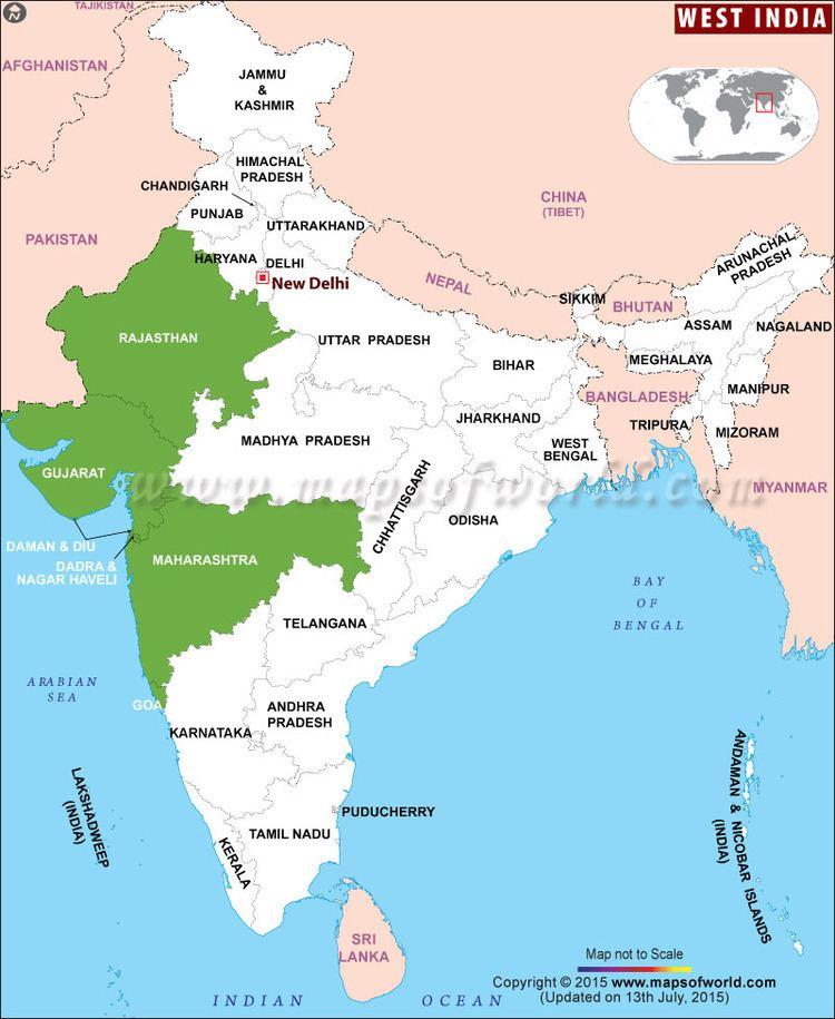 Western India India Map