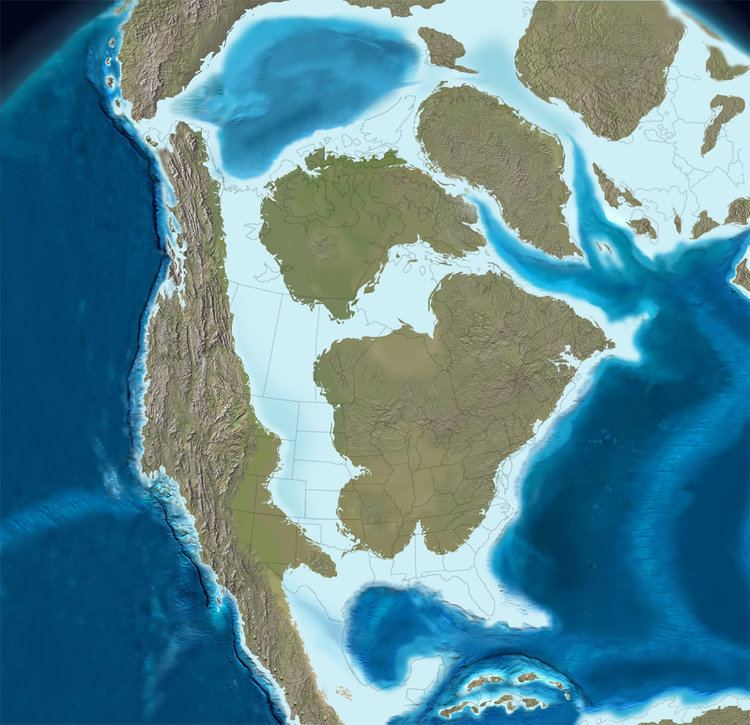 Western Interior Seaway Cretaceous Time and Paleogeography