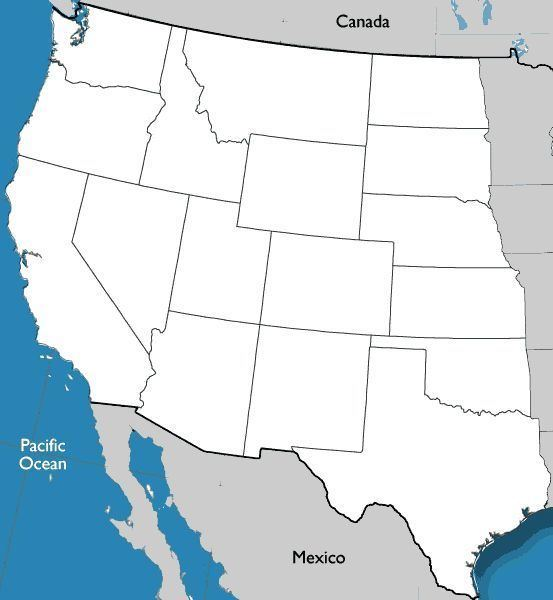 Western United States 78 images about Geography on Pinterest United states map Lesson