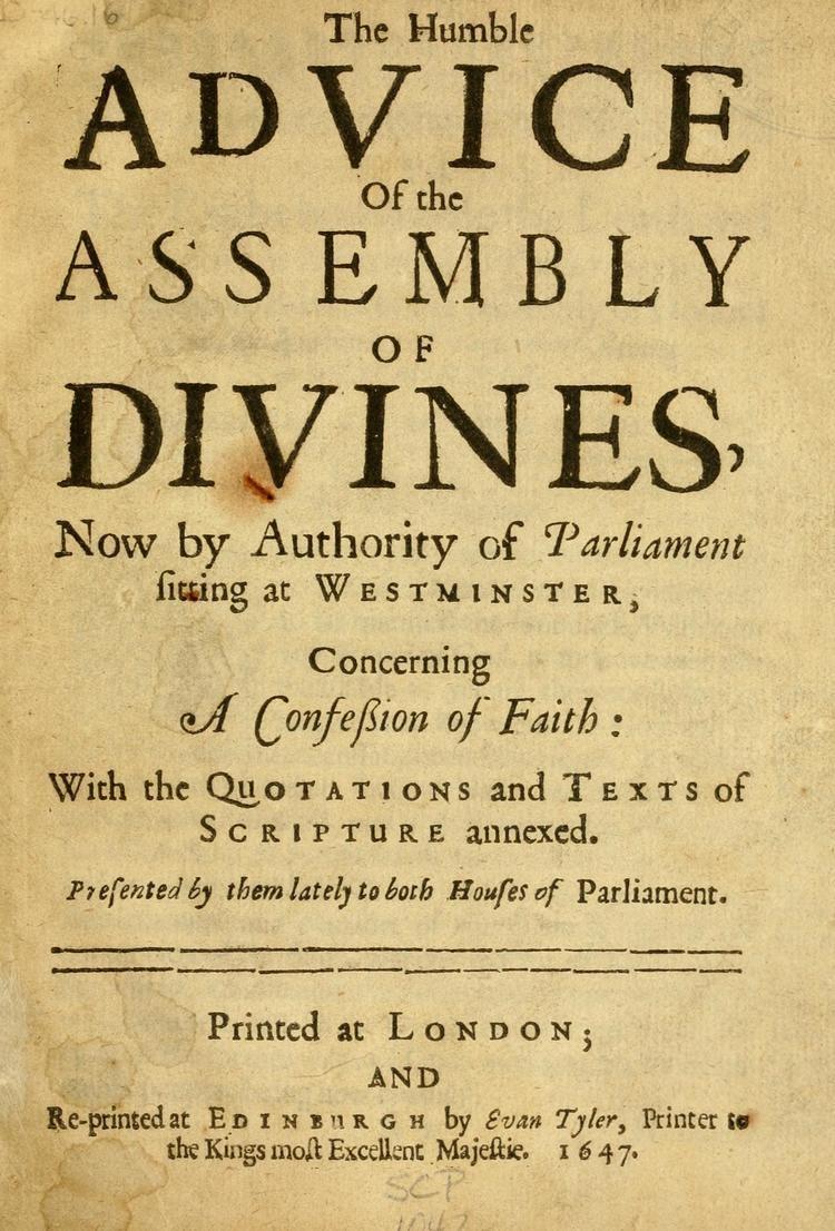 Westminster Confession of Faith uploadwikimediaorgwikipediacommons000Westmi