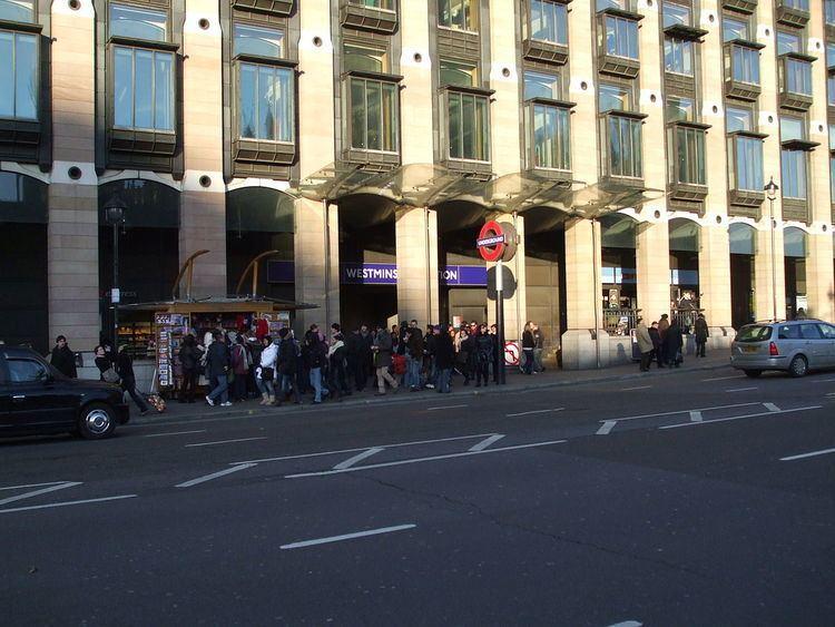 Westminster tube station