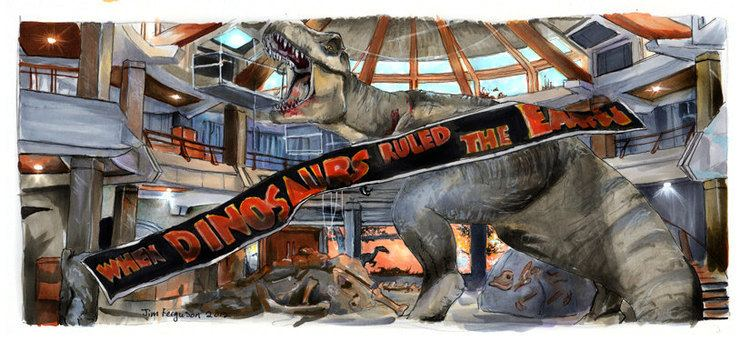 When Dinosaurs Ruled the Earth Jurassic Park When Dinosaurs Ruled the Earth Poster Print
