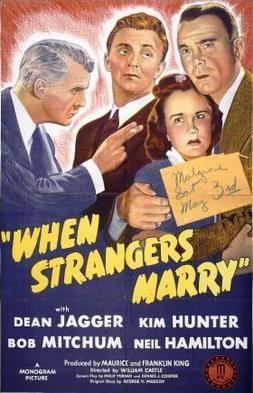 When Strangers Marry When Strangers Marry Wikipedia