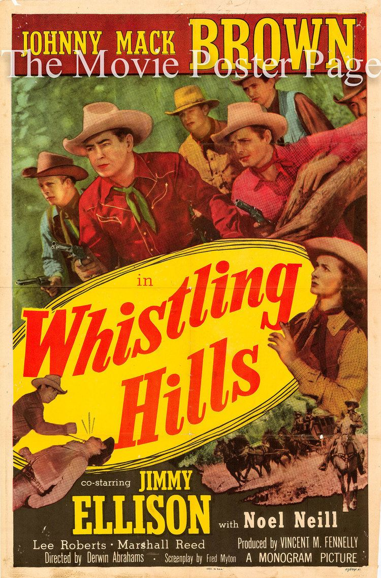 Whistling Hills 1951 Johnny Mack Brown US onesheet F EX 95