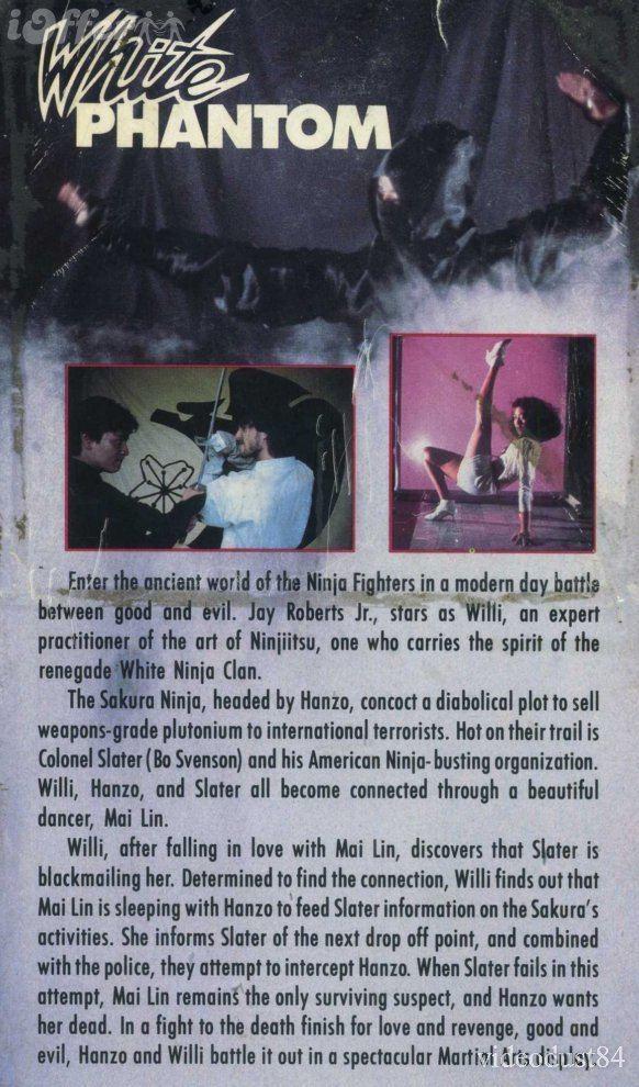 White Phantom DVD 80 Ninja Action Film for sale