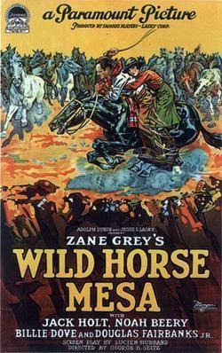 Wild Horse Mesa (1925 film) movie poster