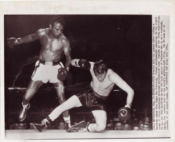 Wilf Greaves Robinson SUGAR RAY ROBINSON WILF GREAVES PHOTO ITEM VPROB30