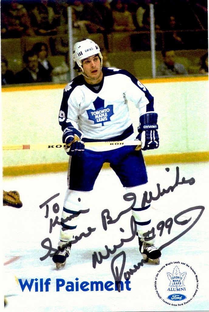 Wilf Paiement Wilf Paiement signed postcard Flickr Photo Sharing