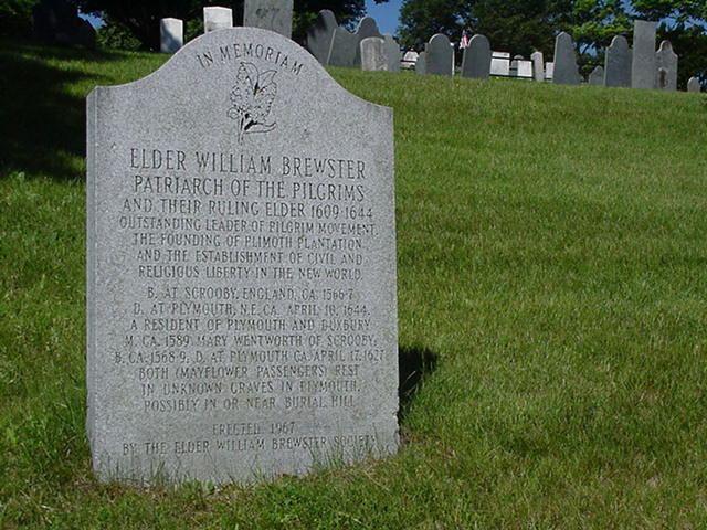 William Brewster (Mayflower passenger) Elder William Brewsters headstone Voyage To The New World